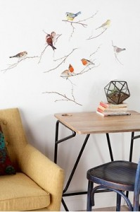 birds wall decal - urban outfitters